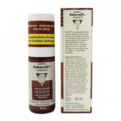 Scherell's Schaftol dunkel масло для дерева темно-коричневое 50 мл  - Фото 1