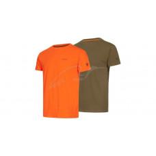 Комплект футболок Hallyard Jonas. Розмір L. Оранжевий/сірий
