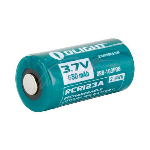 Аккумуляторная батарея Olight RCR 123 Li-Ion 650 mAh  - Фото 1