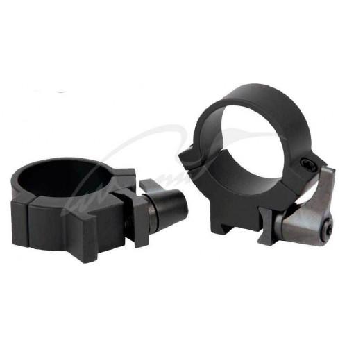 Быстросъемные кольца Warne Rimfire QD. d - 25.4 мм. Medium. 11 мм  - Фото 1