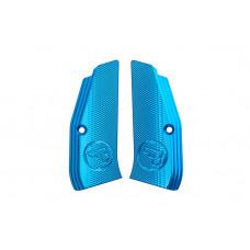Накладки на рукоятку CZ 75 сині з насічками