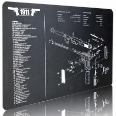 Килимок гумовий для чищення 43х28 см зі схемою пістолета