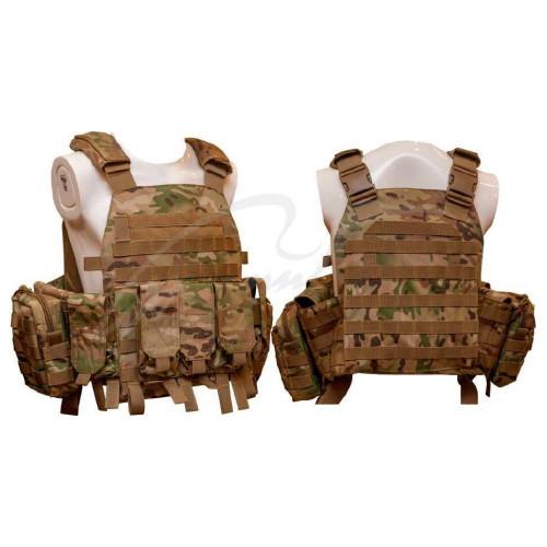 Жилет тактичний TAR Tactical Vest Multicam NIJ IV (ДСТУ 4 клас) 7,62х54R куля Б-32 4 пластини: передня з  - Фото 1