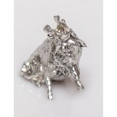Мініатюра олов'яна Wutschka 'Сидить кабан з короною'