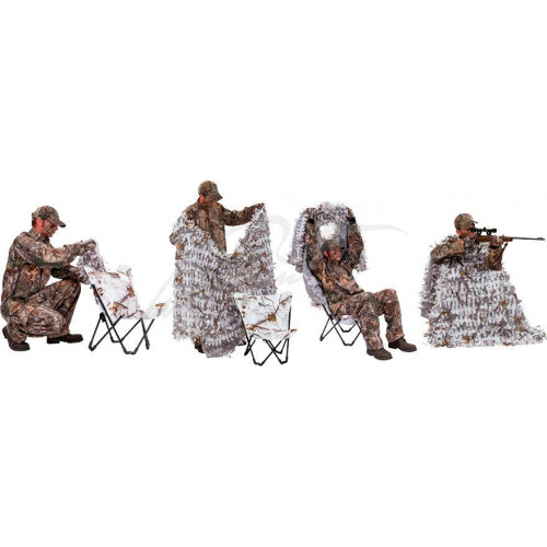 Засидка Ameristep Predator Hunter 3D Chair&Cover system Колір: Snow AP  - Фото 2
