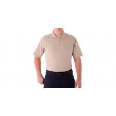 Поло теніска First Tactical Cotton. Розмір - XL. Колір - Khaki