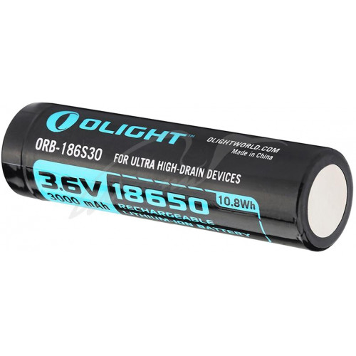Акумуляторна батарея Olight 18650 HDС (15А) 3000mAh  - Фото 2