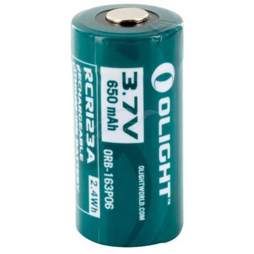 Аккумуляторная батарея Olight RCR 123 Li-Ion 650 mAh  - Фото 2
