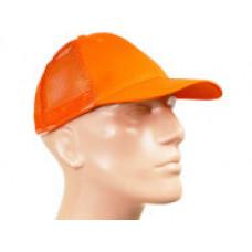 Кепка сигнальна помаранчева зі вставкою з сітки