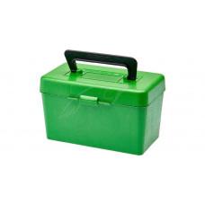 Коробка MTM H50-RL на 50 патронів кал. 30-06 і 8x57 JRS. Колір – зелений.
