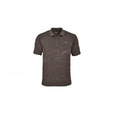 Поло теніска Blaser Active Outfits Jacquard S ц:коричневий