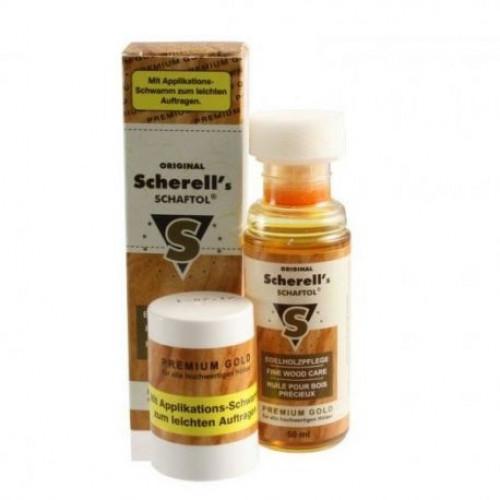 Scherell's Schaftol Premium gold олія для дерева золоте преміум 50 мл  - Фото 1