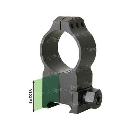 Кільця Warne Tactical Fixed Ring. d - 30 мм. High. Weaver/Picatinny  - Фото 2