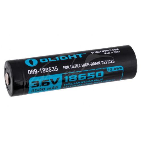 Акумуляторна батарея Olight 18650 HDС (10A) 3500mAh  - Фото 1