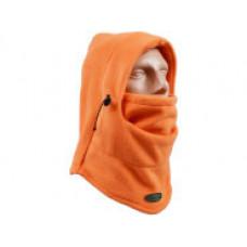Шолом-маска Капюшон на затягуванні з полар-флісу помаранчева