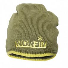 Шапка в'язана на флісі NORFIN Viking зелена