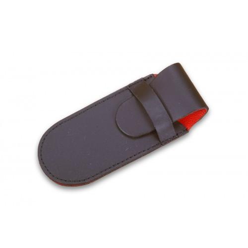 Ехол Victorinox, чорний шкіряний (91 мм, 2 шару)  - Фото 1
