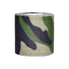 Маскировочная лента 5 х 450 см клейкая Woodland Camo (покрытие хлопок)