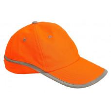 Кепка сигнальна помаранчева зі світловідбиваючою смужкою
