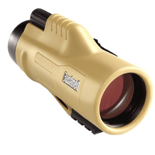 Bushnell 10x42 Legend ED Monocular w/picatinny RAIL & Mil-Hash Reticle, RGHD & UWB, TAN  - Фото 1