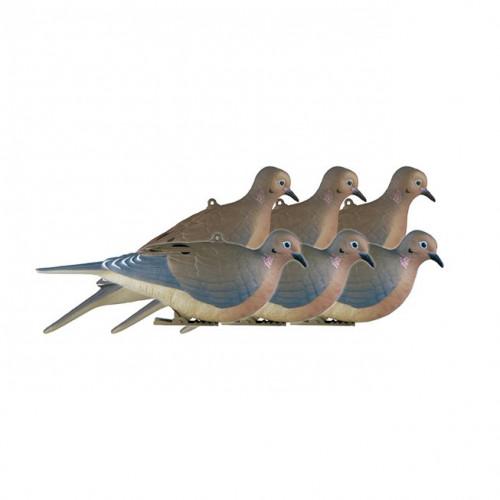 Опудала горлиць GHG Greenhead Hunter Series Morning Doves 6шт.  - Фото 1